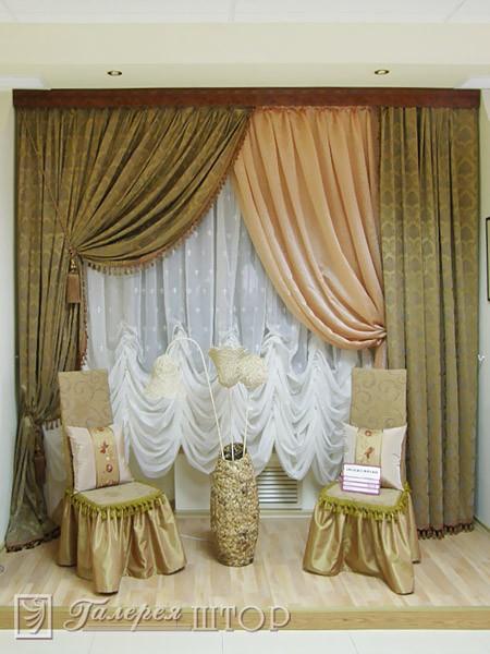 Дизайн штор в гостиную фото 8