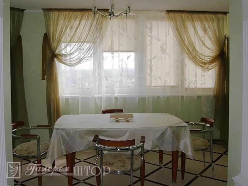 Дизайн штор для столовой и кухни