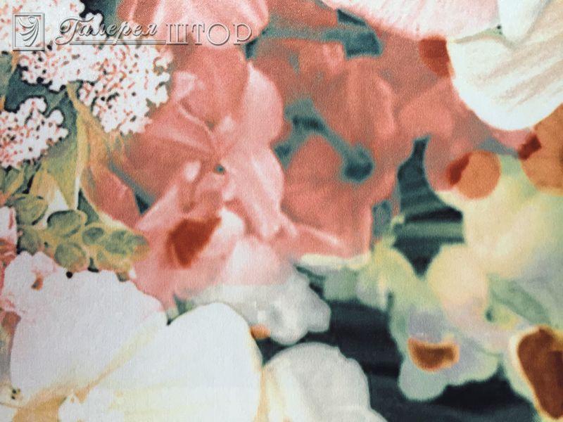 Портьерная ткань с рисунком цветы